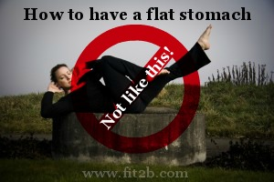 """How to get a flat stomach WITHOUT doing crunches or """"criss cross"""" - fit2b.com"""
